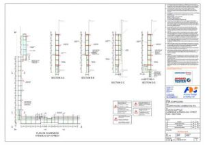 Scaffold Design Drawing, Villiers House, Leamington Spa