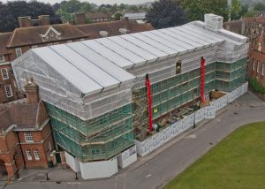 Scaffolding on the Marlborough College.